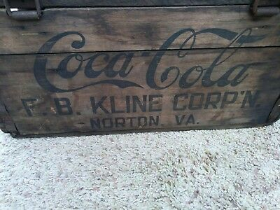Turn century coca cola shipping crate norton va