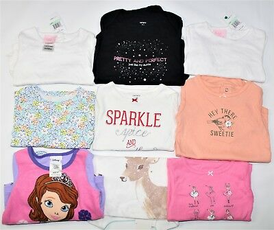 Baby Girl Long Sleeve Tops Lot 9 Pieces Carters Disney Penelope Sizes 12, 18, 2T