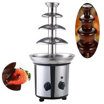 4 Tiers Commercial Stainless Steel Hot New Luxury Chocolate Fondue Fountain New