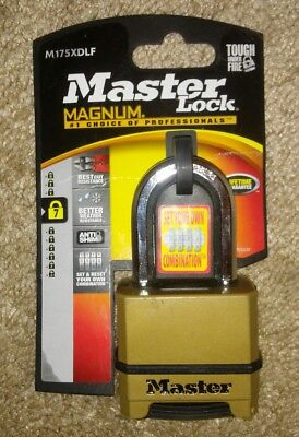 """MASTERLOCK M175XDLFCCSEN Resettable Combination Padlock with 1-1/2"""" Shackle, 2"""""""