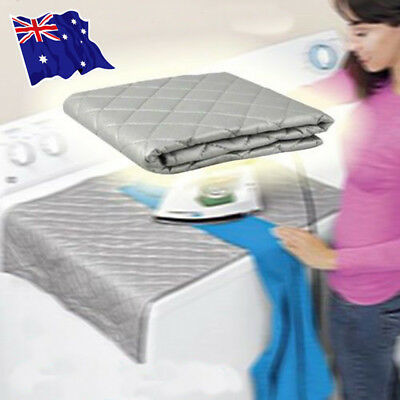 Table Top Folding Portable Caravan Travel Ironing Blanket Board Cover Mat S4