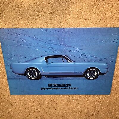 1st edition BFG BFGoodrich Tires Shelby GT350 mustang collector poster in blue