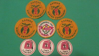 Collection of Shriners Patches (1982,1983, 1984)