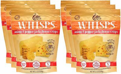 Whisps Asiago & Pepperjack Cheese Crisps (2.12) (6 Pack) 6 Pack