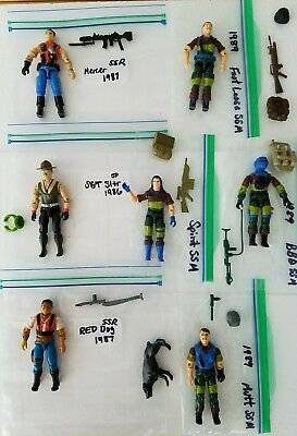 GI Joe figures Special Edition Sgt. Slaughter & Maraders & Renegades.