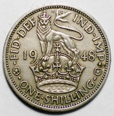 1948 Great Britain One Shilling Coin UK
