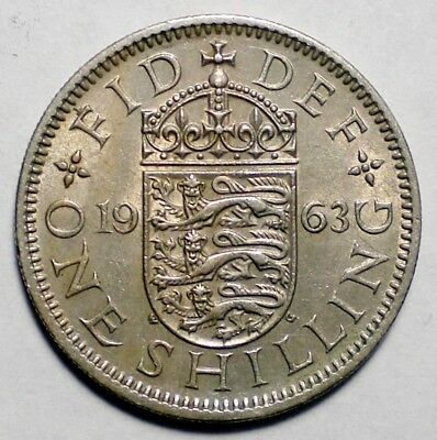 1963 Great Britain One Shilling Coin UK