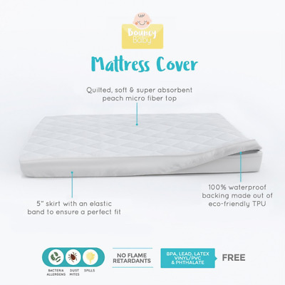 Bouncy Baby Pack N Play Mattress Cover - Hypoallergenic, Cushioned & Soft, Water