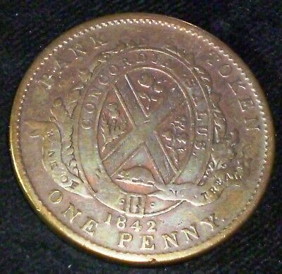 Province Of  Canada One  Penny  Token  1842 Bank Of Montreal