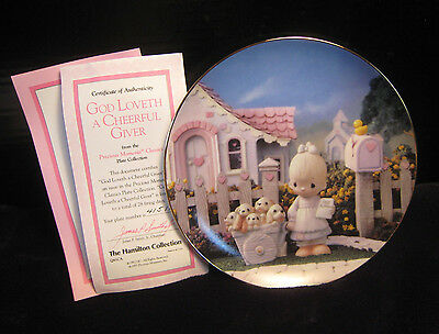 "New! Mib! Precious Moments Classics Plate ""god Loveth A Cheerful Giver"""