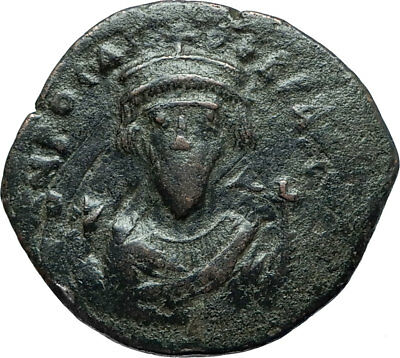 PHOCAS 602AD Constantinople Follis Authentic Ancient Byzantine Coin i66064