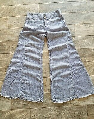 Womens Free People Large Hipoi Boho Bell Bottom Pants Size 10