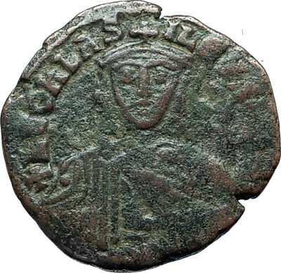 LEO VI the WISE 886AD Constantinople Follis Medieval Byzantine Coin i66066
