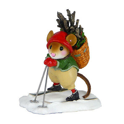ALPINE ELF by Wee Forest Folk, WFF# M-474, Winter Skiing Mouse