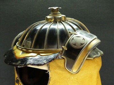 The Kabuto Japanese Traditional ARMOR Used By  Firefighter, Edo Period,Very Rare