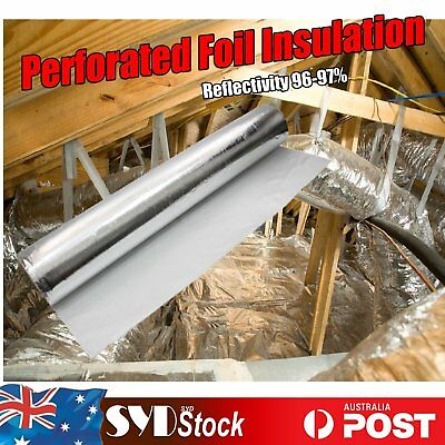 Perforated Reflective Foil Attic Loft Insulation Garage Duct  Thermal Reducing