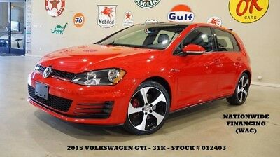 2015 Volkswagen Golf 15 GOLF GTI SE,AUTO,PANO ROOF,BACK-UP CAM,HTD LTH, 15 GOLF GTI SE,AUTO,PANO ROOF,BACK-UP CAM,HTD LTH,18IN WHEELS,31K,WE FINANCE!!