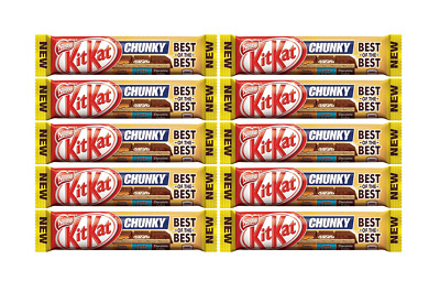 909700 10 x 52g BARS OF NESTLE'S KIT KAT CHUNKY BEST OF THE BEST NEW CHOCOLATE!