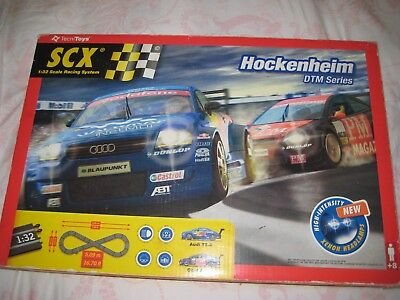 SCX Hockenheim DTM Series Slot Car Set & extra track pieces