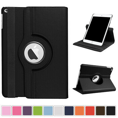"""360 Rotating Leather Smart Stand Cover Case For iPad 9.7"""" 2017 2018 Mini Air Pro"""