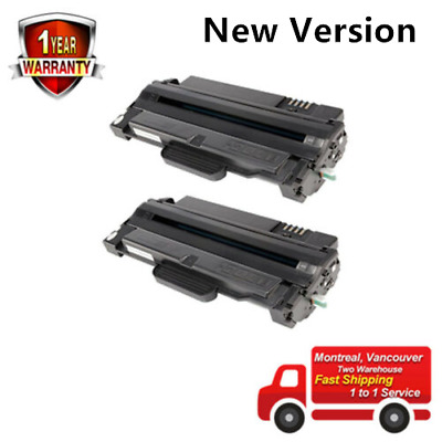 2PK MLT-D105L Black Toner Cartridge for Samsung ML-1910 ML-1915 ML-2525 SCX-4600