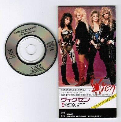 "VIXEN Edge Of A Broken Heart JAPAN 3"" CD SINGLE XP10-2007 Unsnapped 1988 issue"