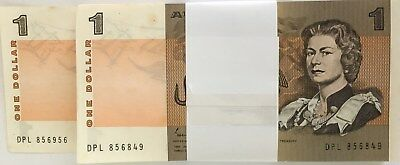 1982 100 $1 PAPER NOTES DPL 856849 to 856956 2x CONSECUTIVE RUNS SEE DETAILS