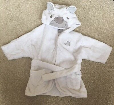 Ladybird Unisex Towel Dressing Gown Aged 0-3 Months