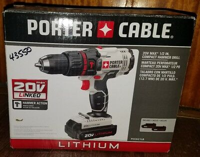 porter cable 20 v compact hammerdrill