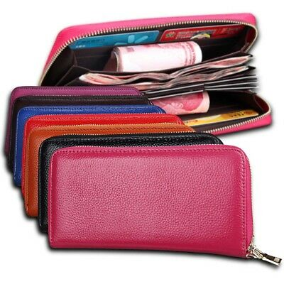 RFID Blocking Ladies Luxury Wallet Long Clutch ID Card Holder Case Purse Handbag