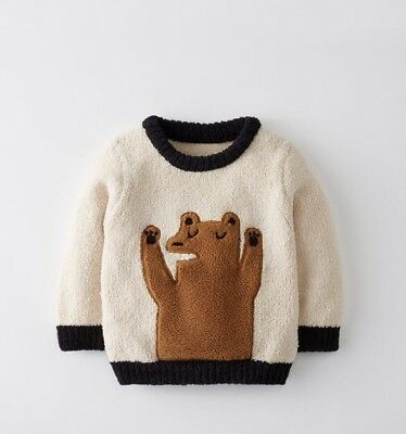Hanna Andersson Critters And Hugs Mashmallow Sweater Size 90