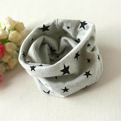 Infant Kids Baby Girls Boy Cotton Snood Scarf Scarves Neckerchief Stars Print