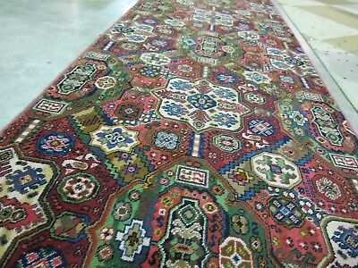 Persian Garden Wool Feature Rug Woven 360cm x110cm.. A1 Top Condition