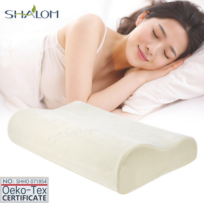 Deluxe Elastic Memory Foam Cot Contour Pillow Home Hotel Travel 50x30x10CM 700G