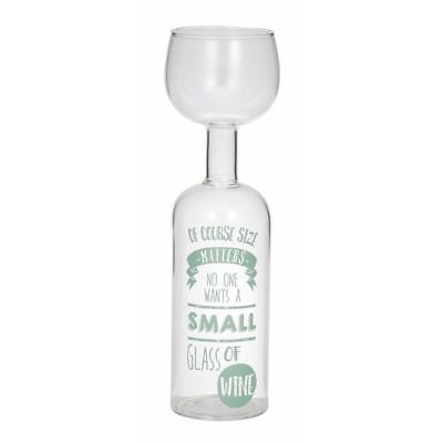 Giftworks - Size Does Matter Wine Bottle Glass 900ml