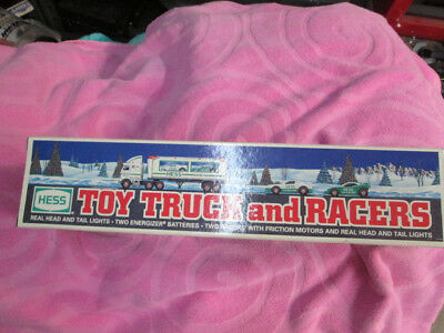1997 HESS Christmas Toy Truck And Stock Car type Racers