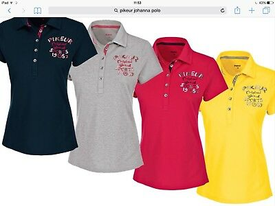 Pikeur Ladies Johanna Polo t-shirt Berry Pink 42 UK 14 SALE