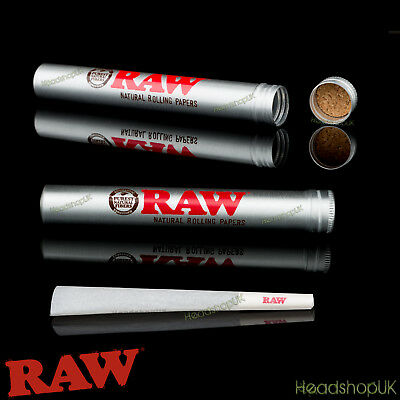 RAW Aluminium Storage Tube Cone Holder Torpedo with Cork Gasket 2 keep smells in