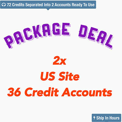LIMIT Offer 2x audible US 36 credit Accounts All at once, 72 new books to listen