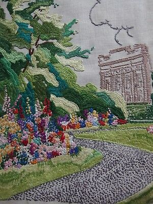 vintage hand embroidery picture