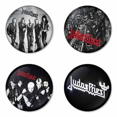 Judas Priest, B - 4 chapas, pin, badge, button