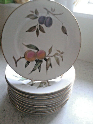 """ROYAL WORCESTER EVESHAM GOLD 10""""  DINNER PLATES 1st QUALITY - 11 AVAILABLE"""