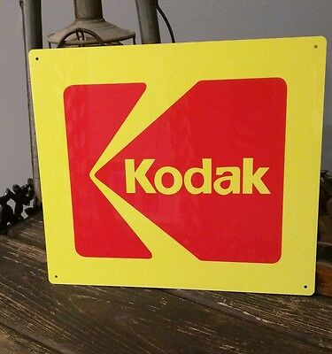Kodak Camera 10.5 X 12 metal sign photography advertising 50008