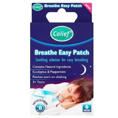 Colief Breathe Easy Patch - 6 Patches 1 2 3 6 12 Packs