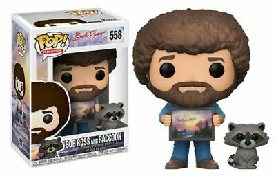 Funko Pop! TV Bob Ross The Joy of Painting Bob Ross w/ Raccoon Vi