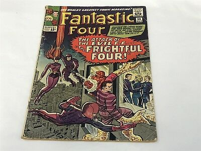 FANTASTIC FOUR #36 1965 First Medusa and Frightful Four