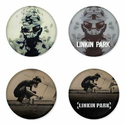 Linkin Park, B - 4 chapas, pin, badge, button