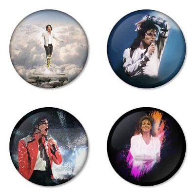 Michael Jackson, pop, B - 4 chapas, pin, badge, button