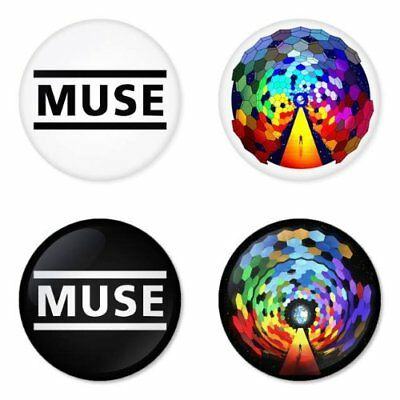 Muse, B - 4 chapas, pin, badge, button
