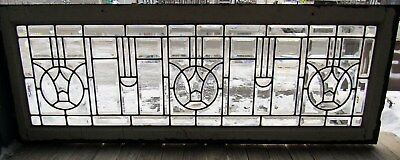 Great Victorian Beveled Glass Transom Window